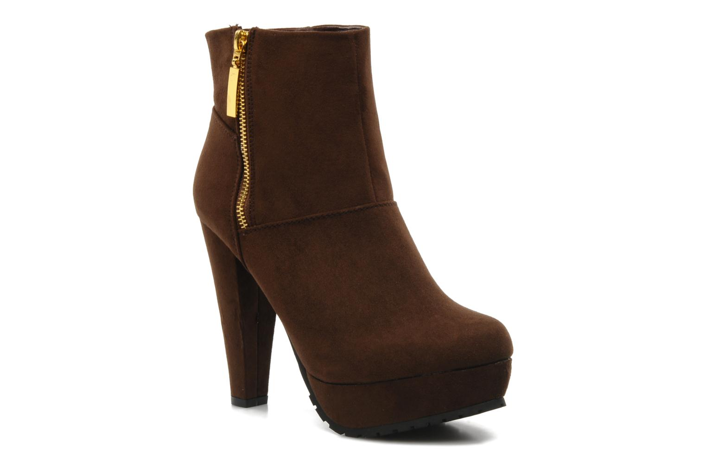 Boots en enkellaarsjes I Love Shoes Napoli Bruin detail