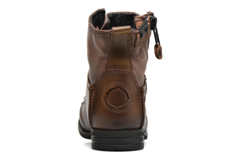 Bottines et boots Bunker Sara zip Marron vue droite
