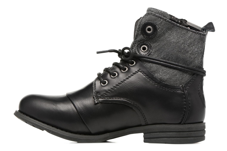 Bottines et boots Bunker Sara zip Noir vue face