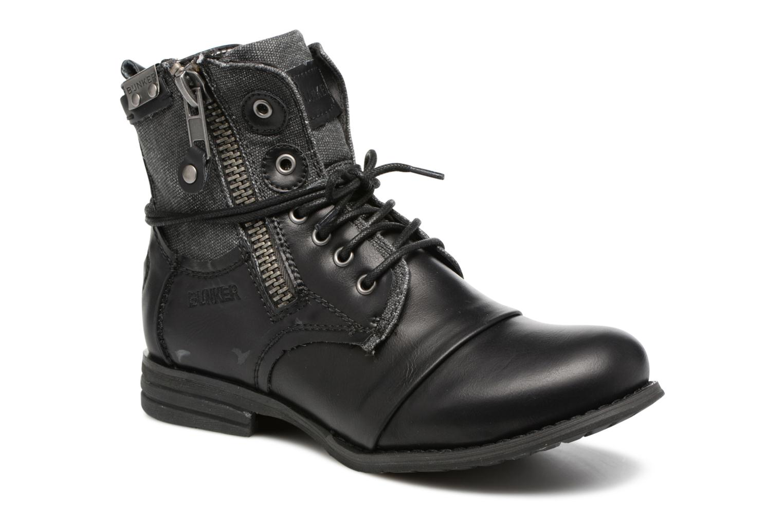 Stiefeletten & Boots Bunker Sara zip schwarz detaillierte ansicht/modell