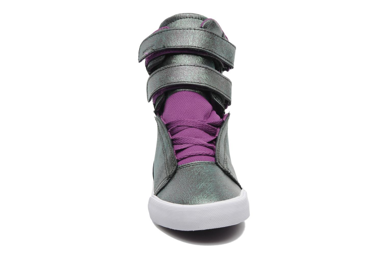 Baskets Supra Society w Violet vue portées chaussures