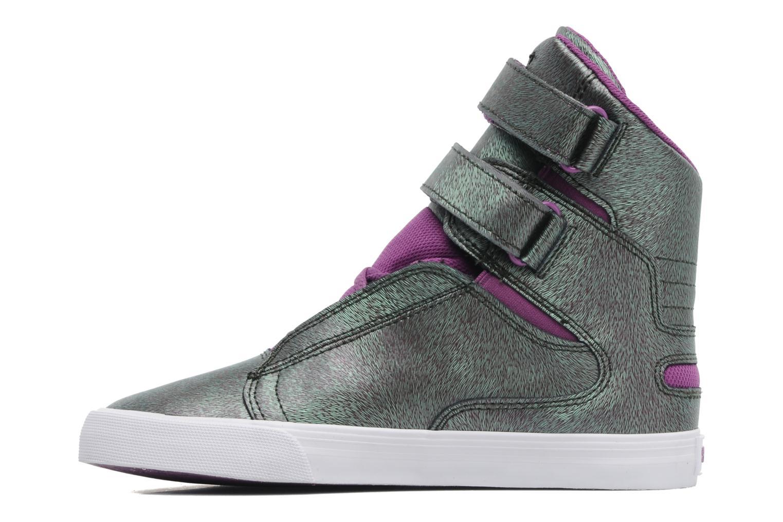 Sneaker Supra Society w lila ansicht von vorne