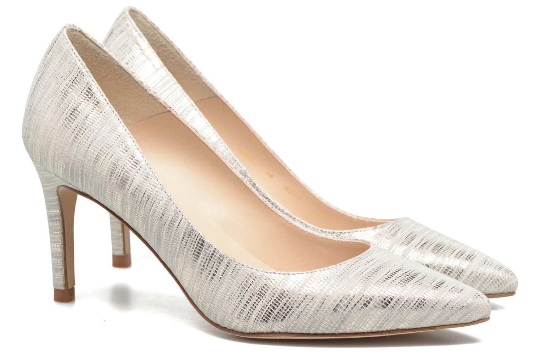 High heels L.K. Bennett Floret Silver 3/4 view