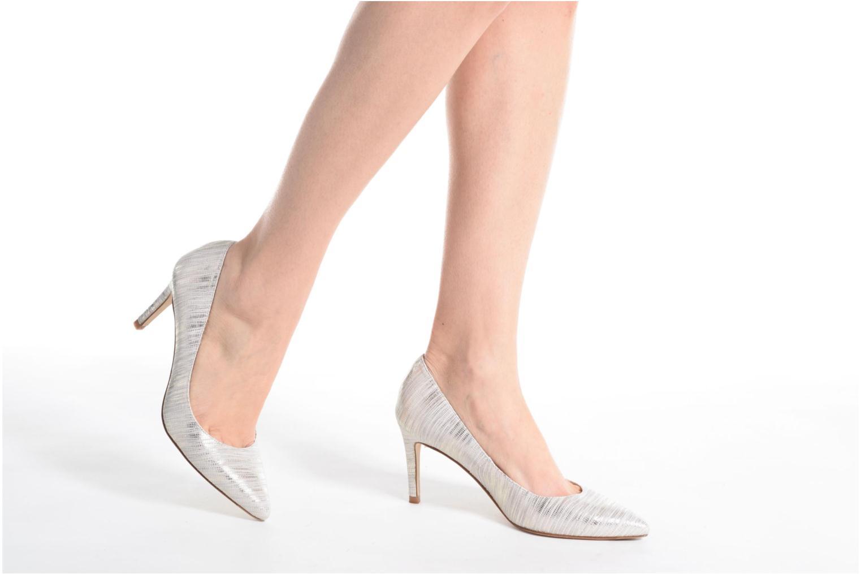 High heels L.K. Bennett Floret Silver view from underneath / model view