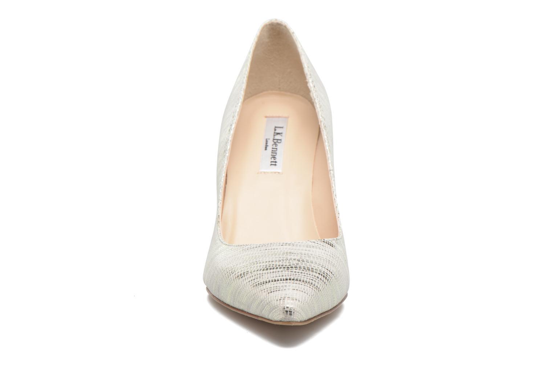 Høje hæle L.K. Bennett Floret Sølv se skoene på