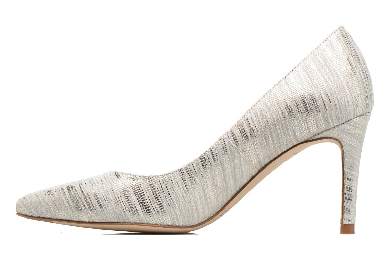 High heels L.K. Bennett Floret Silver front view