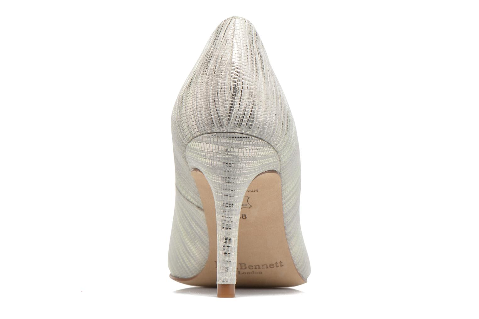High heels L.K. Bennett Floret Silver view from the right