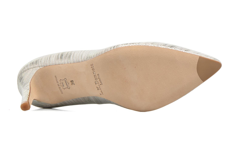 Zapatos de tacón L.K. Bennett Floret Plateado vista de arriba
