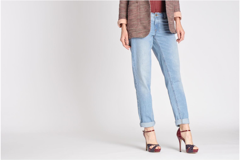 Sandales et nu-pieds L.K. Bennett JANNA Bordeaux vue bas / vue portée sac