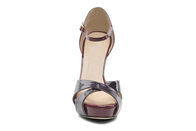 Sandales et nu-pieds L.K. Bennett JANNA Bordeaux vue portées chaussures