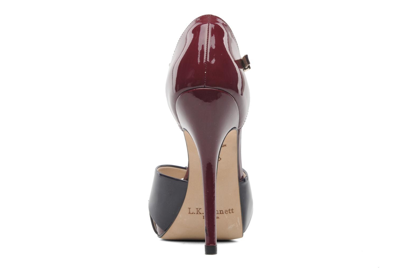 Sandales et nu-pieds L.K. Bennett JANNA Bordeaux vue droite