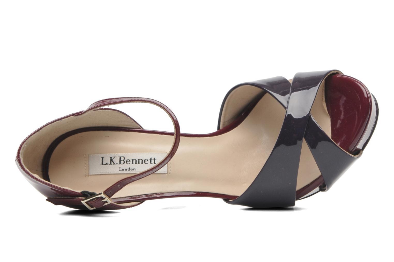 Sandales et nu-pieds L.K. Bennett JANNA Bordeaux vue gauche