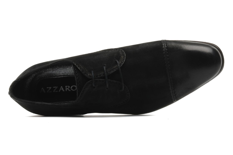 Scarpe con lacci Azzaro Walter Nero immagine sinistra