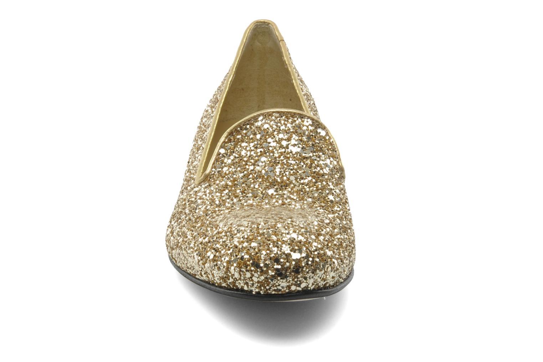 Mocassins Valensi Vovon Or et bronze vue portées chaussures