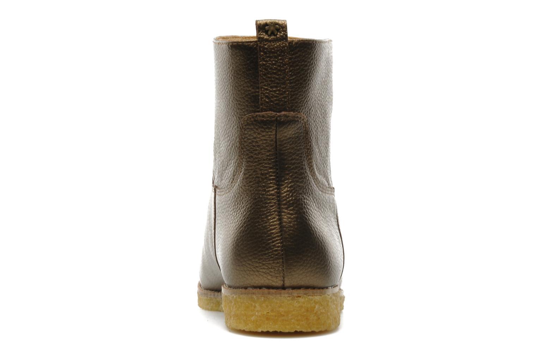Bottines et boots Flipflop CABALLO MET Or et bronze vue droite