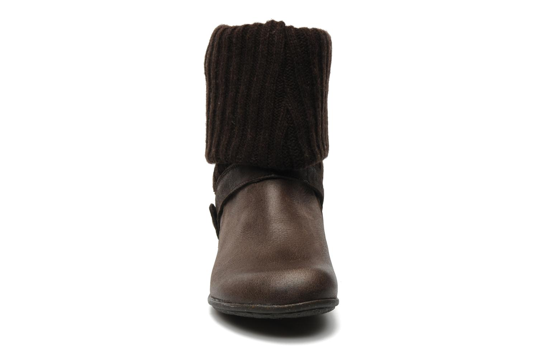 Bottines et boots Kickers CRESHO Marron vue portées chaussures