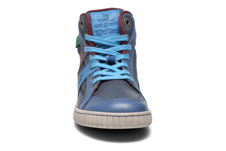 Baskets Kickers Wincut Bleu vue portées chaussures
