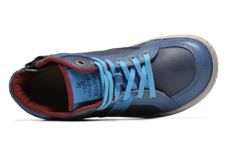 Sneaker Kickers Wincut blau ansicht von links