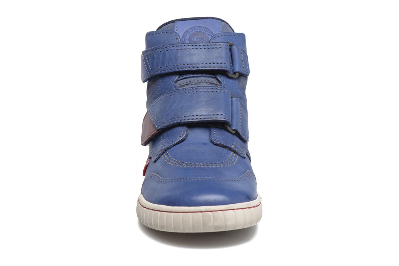 Chaussures à scratch Kickers Winsor Bleu vue portées chaussures