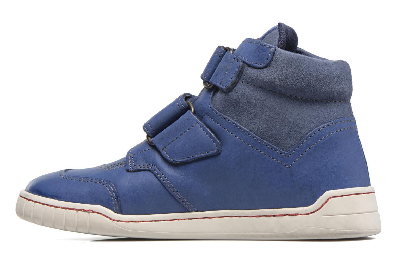Chaussures à scratch Kickers Winsor Bleu vue face