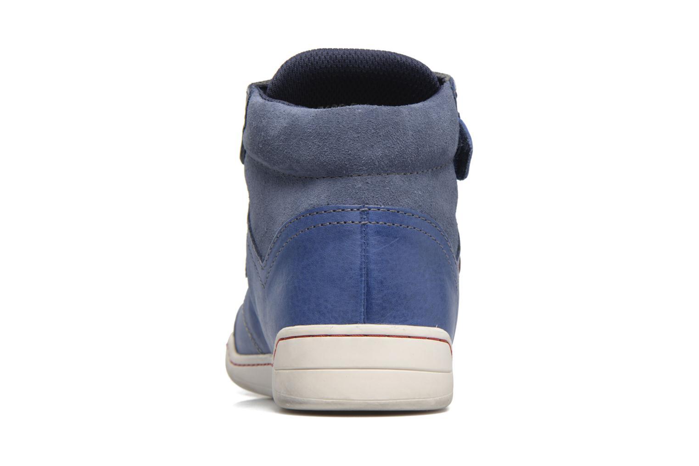 Chaussures à scratch Kickers Winsor Bleu vue droite