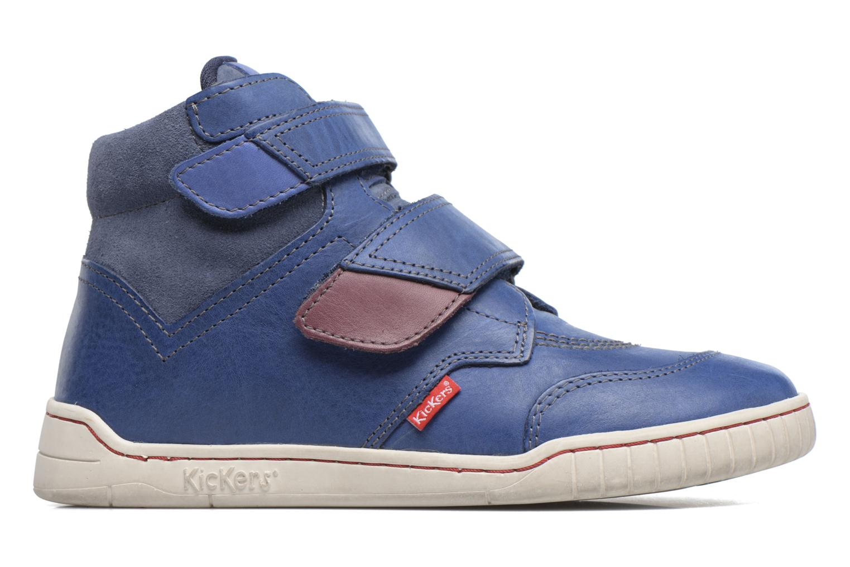 Chaussures à scratch Kickers Winsor Bleu vue derrière
