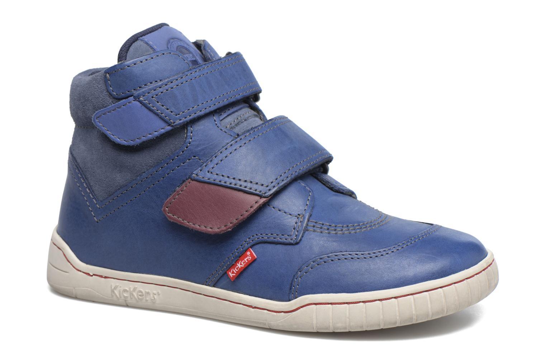 Chaussures à scratch Kickers Winsor Bleu vue détail/paire