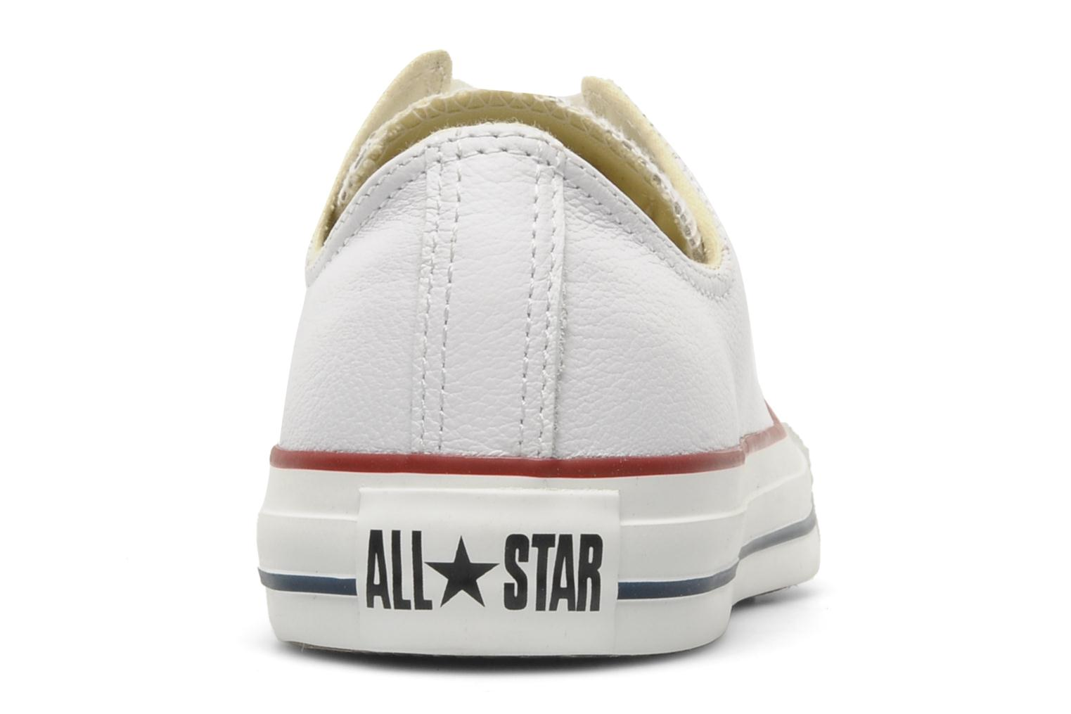 Trainers Converse Chuck Taylor All Star Leather Ox M White view from the right