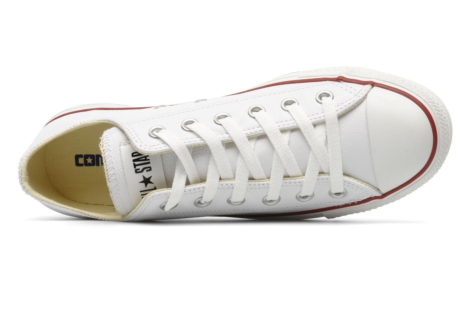 Sneakers Converse Chuck Taylor All Star Leather Ox M Bianco immagine sinistra