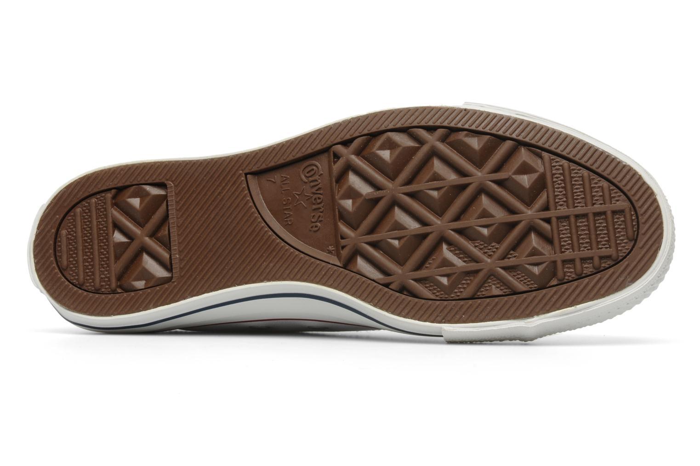 Sneakers Converse Chuck Taylor All Star Leather Ox M Bianco immagine dall'alto
