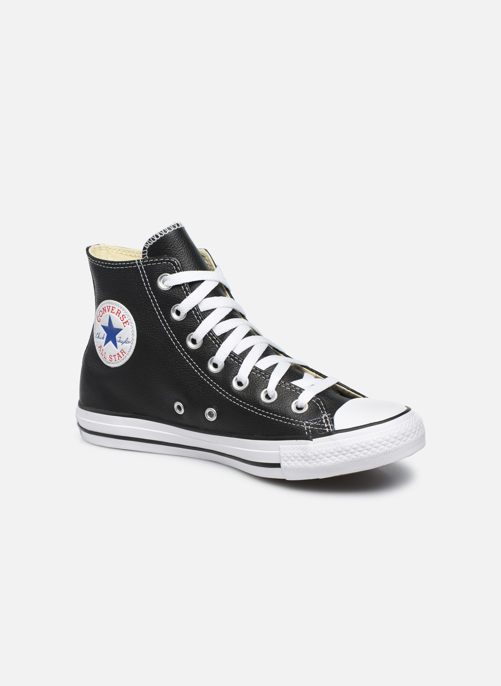 Chuck Taylor All Star Leather Hi W  Noir
