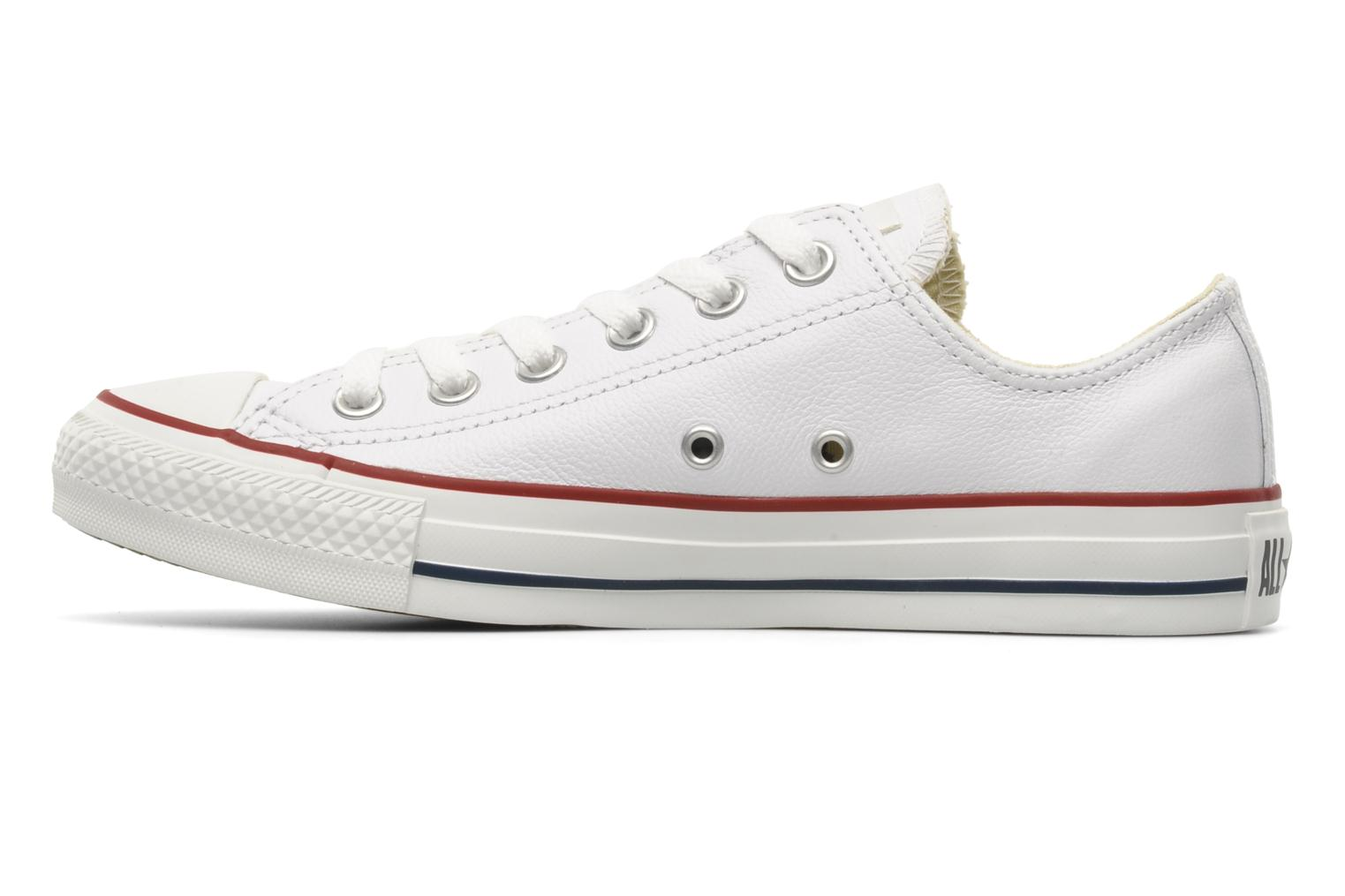 Sneakers Converse Chuck Taylor All Star Leather Ox W Wit voorkant