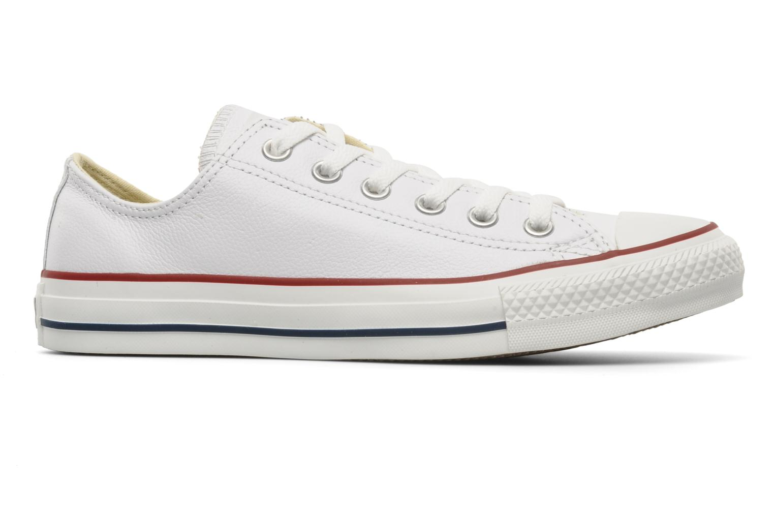 Trainers Converse Chuck Taylor All Star Leather Ox W White back view