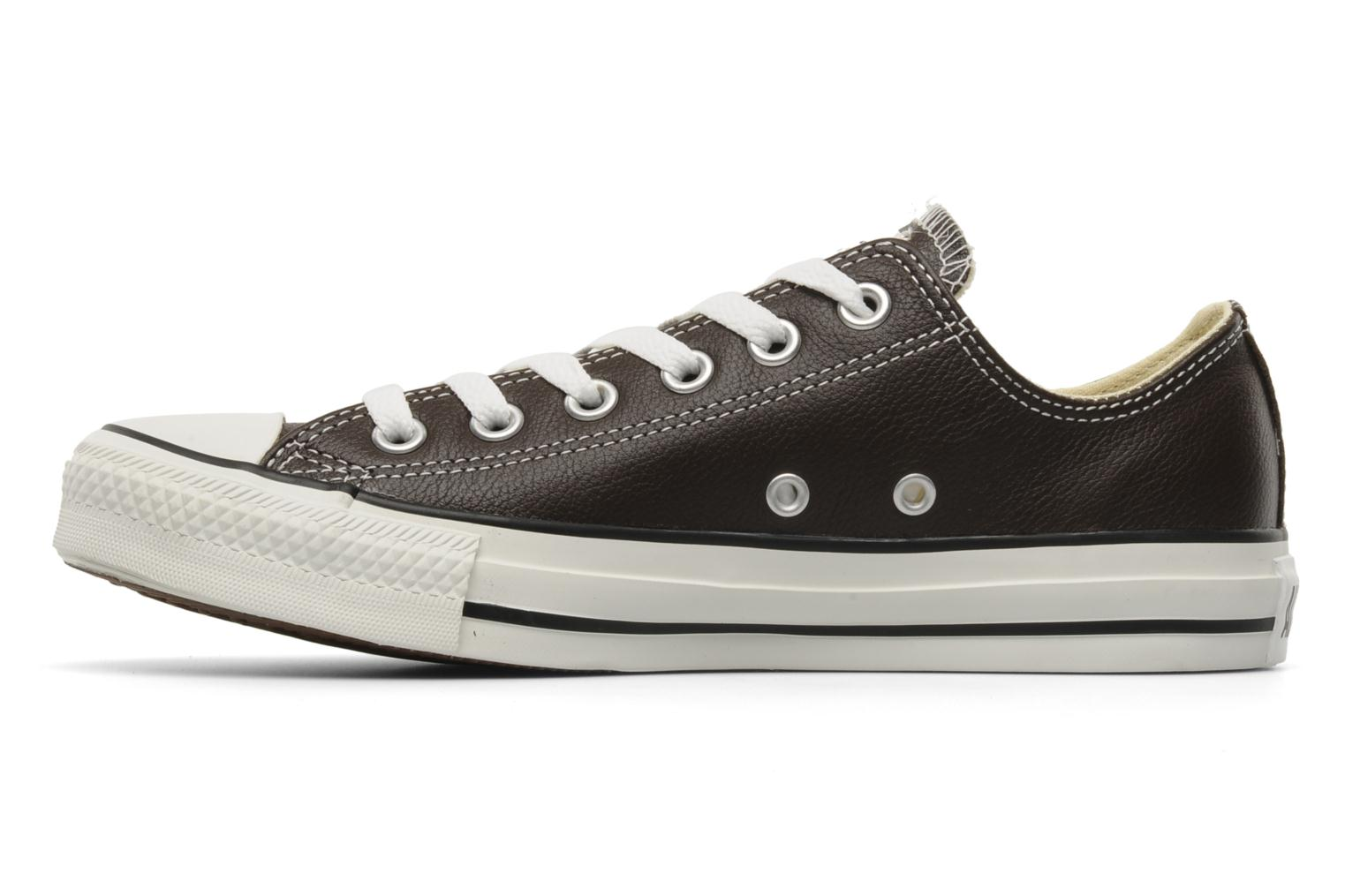 Baskets Converse Chuck Taylor All Star Leather Ox W Marron vue face