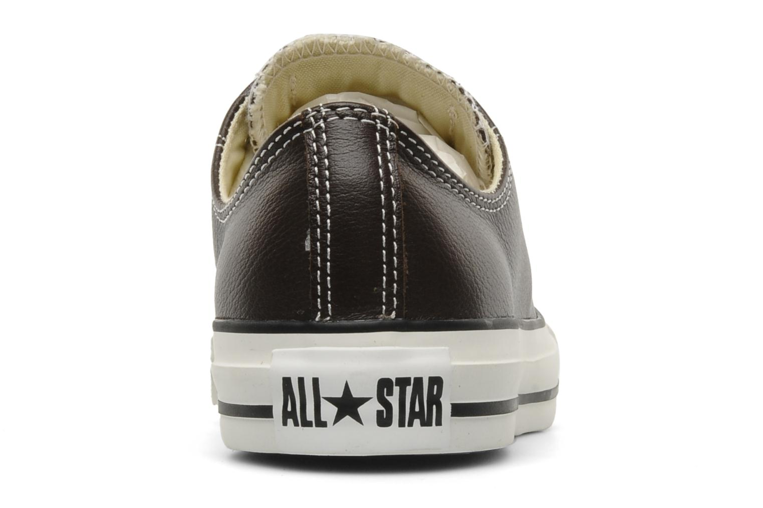 Baskets Converse Chuck Taylor All Star Leather Ox W Marron vue droite