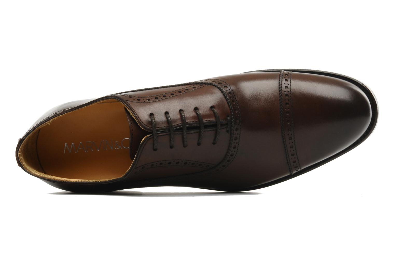 Chaussures à lacets Marvin&Co Amiral Marron vue gauche