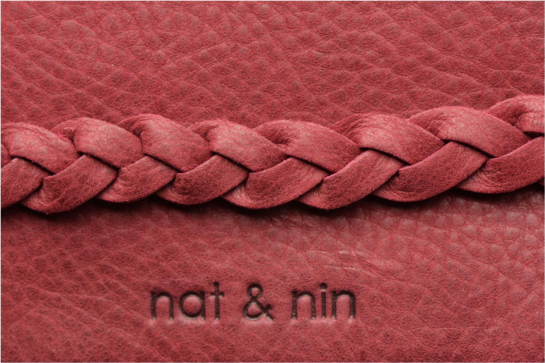 Marroquinería pequeña Nat & Nin Lili Rojo vista lateral izquierda