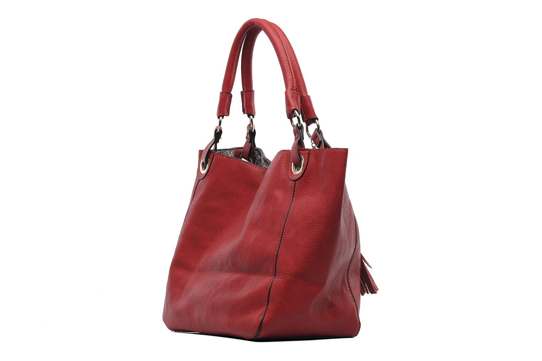 Handtaschen Georgia Rose Barnabé rot ansicht von rechts