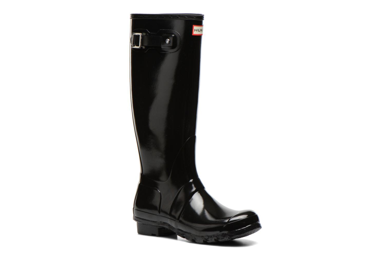 Stiefel Hunter Original Tall Gloss schwarz detaillierte ansicht/modell