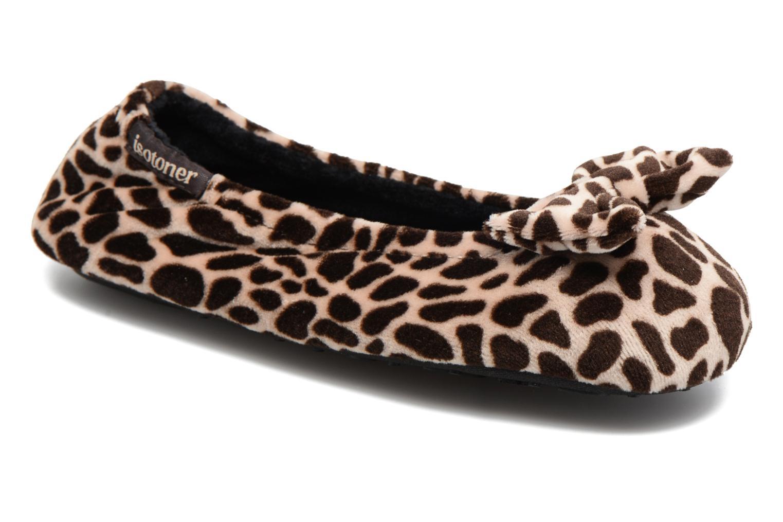 Hjemmesko Isotoner Ballerine Velours Grand Nœud Multi detaljeret billede af skoene