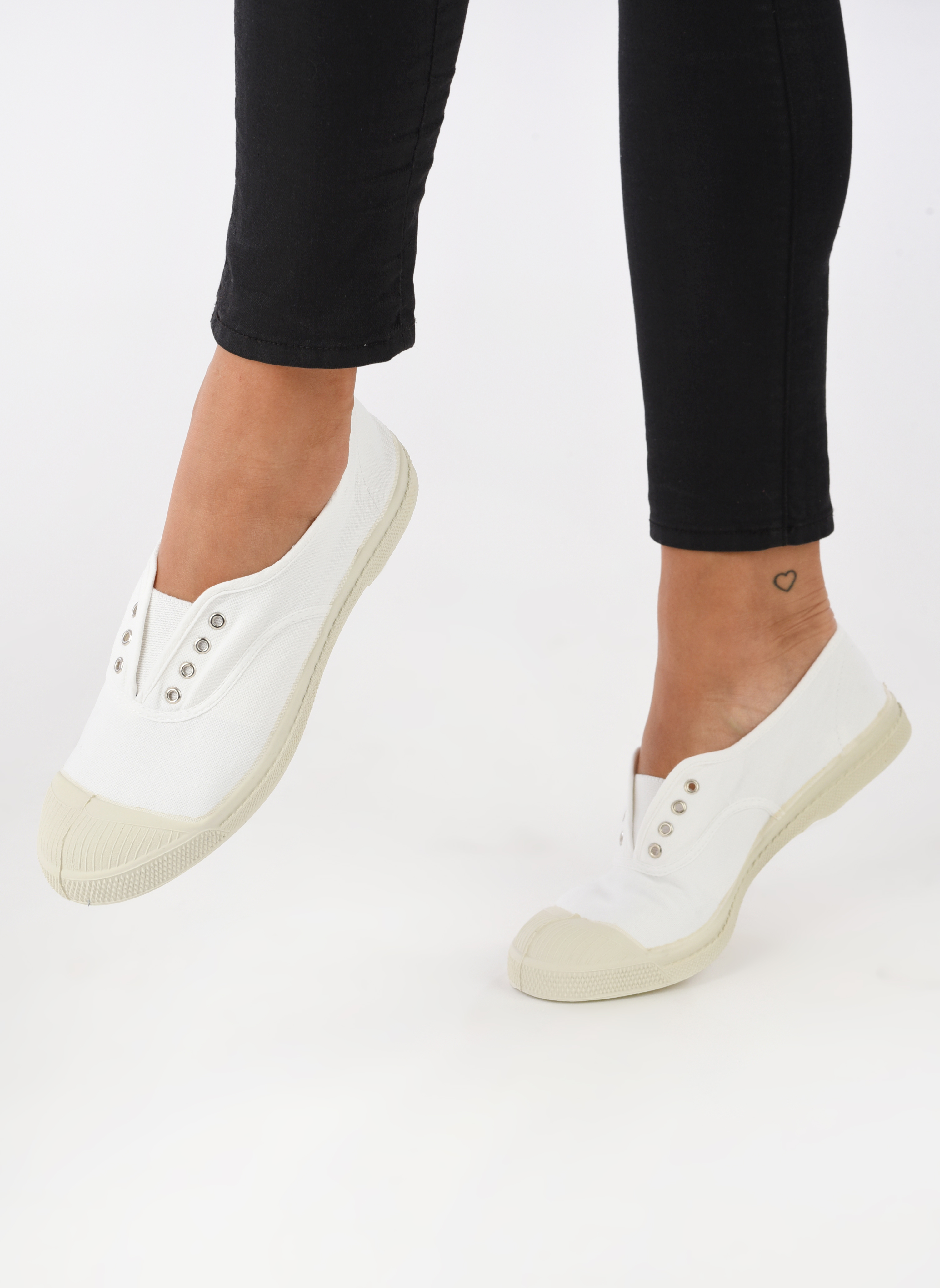 Trainers Bensimon Tennis Elly White view from underneath / model view