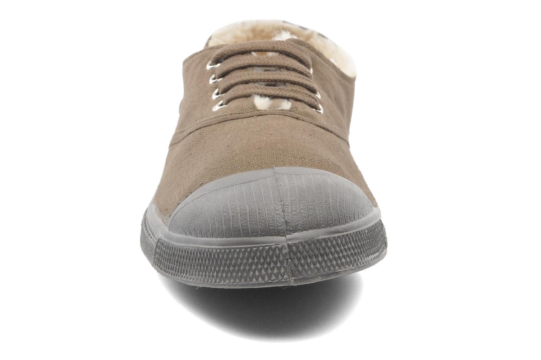 Sneakers Bensimon Tennis Lacets Fourrées Beige bild av skorna på