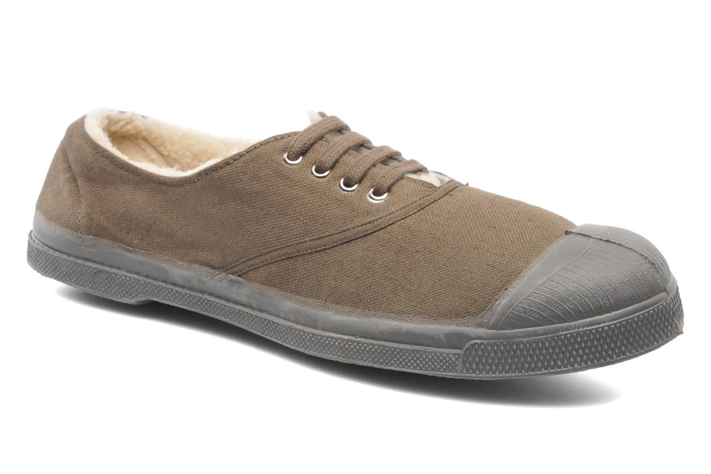 Sneakers Bensimon Tennis Lacets Fourrées Beige detaljeret billede af skoene