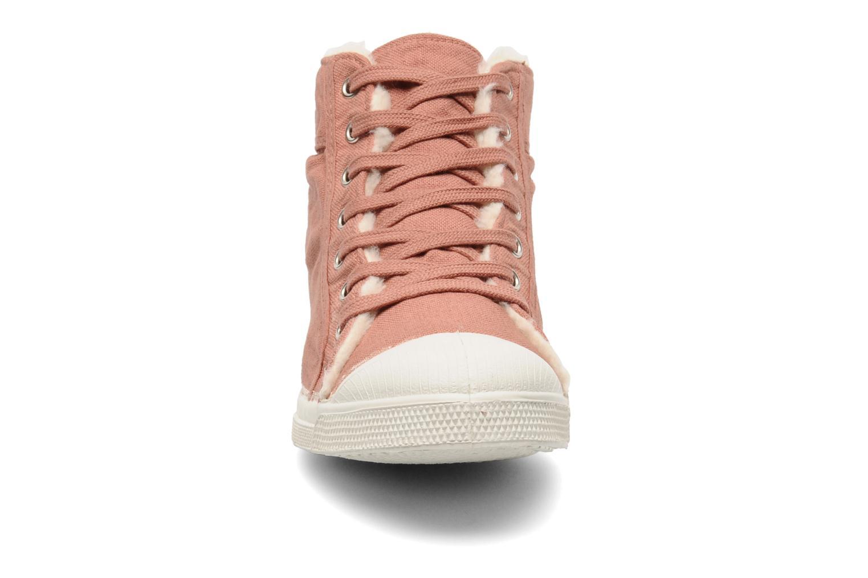 Baskets Bensimon Tennis Mid Fourrées Rose vue portées chaussures
