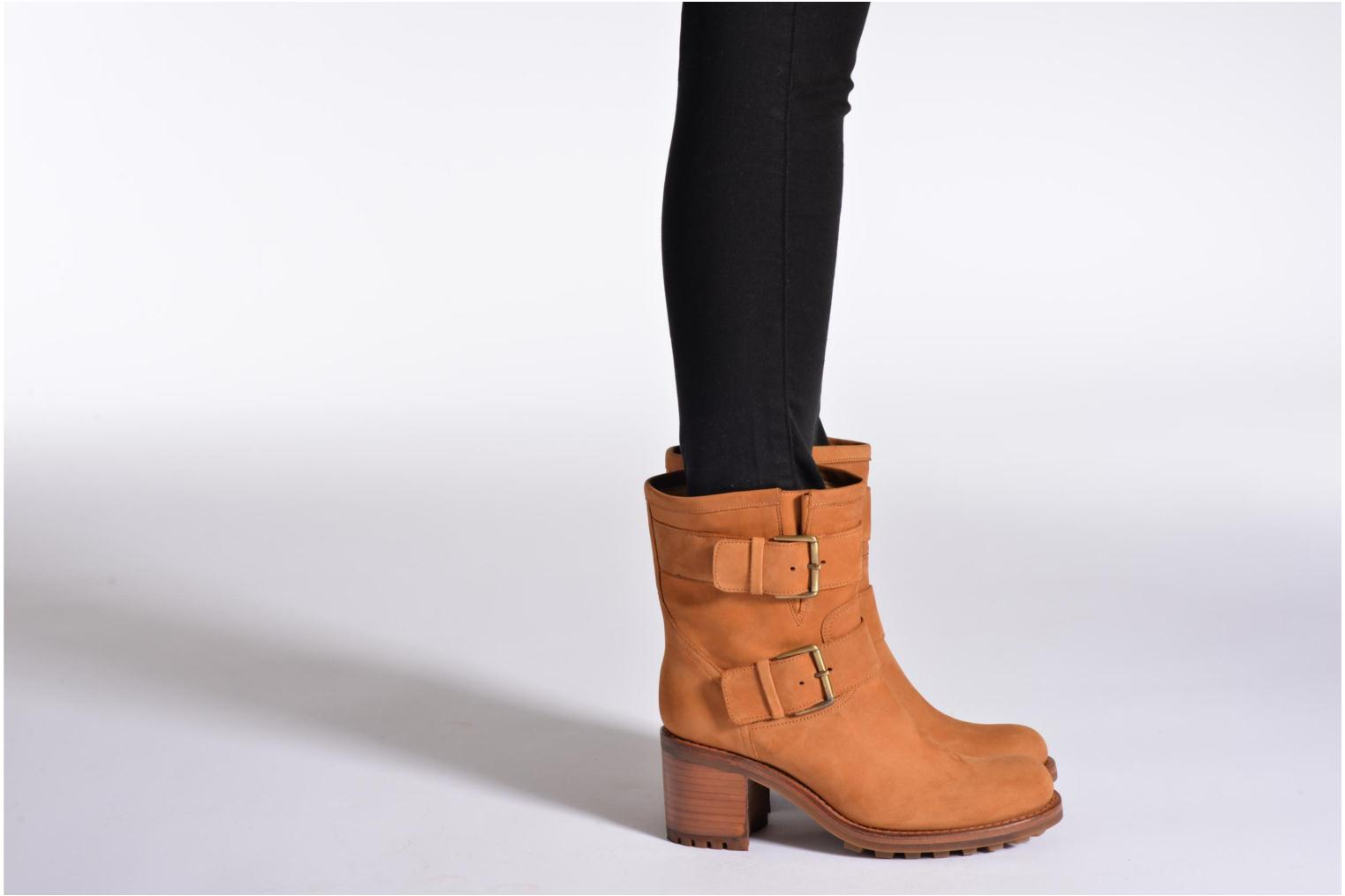 Ankle boots Free Lance Biker 7 Mini Strap Green view from underneath / model view
