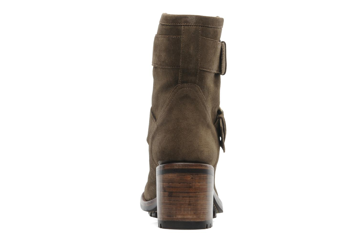Ankle boots Free Lance Biker 7 Mini Strap Green view from the right