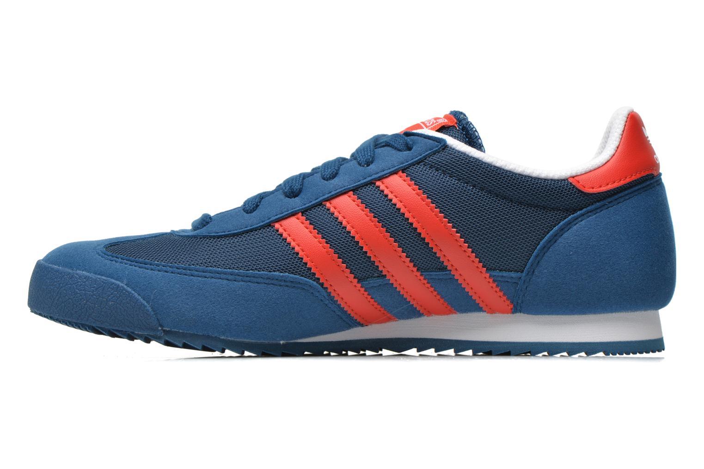 Sneakers Adidas Originals Dragon J Blauw voorkant