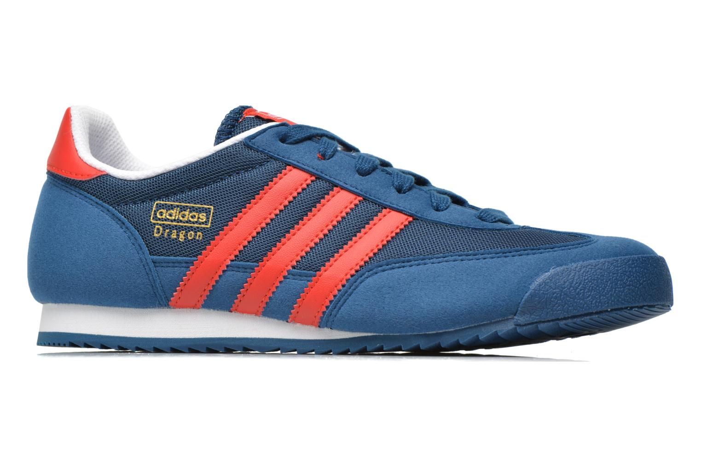 Sneakers Adidas Originals Dragon J Blauw achterkant