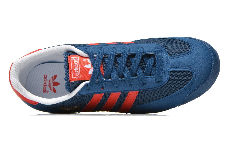 Baskets Adidas Originals Dragon J Bleu vue gauche