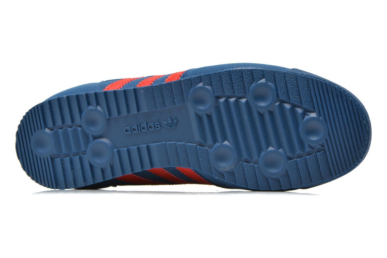 Baskets Adidas Originals Dragon J Bleu vue haut